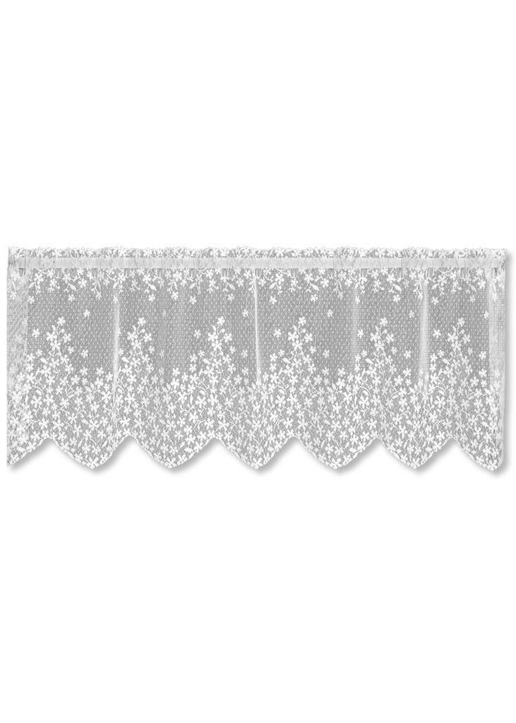 "Heritage Lace Blossom White Valance 42"" X 15"""