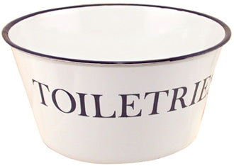 Black and White Toiletries Enamelware Bowl