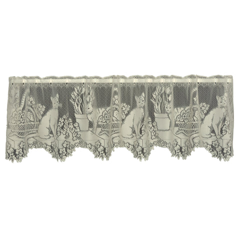 "Heritage Lace Cat's Meow 60"" X 16""  Ecru Valance"