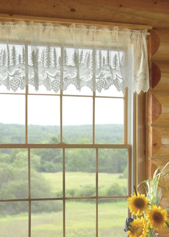 Heritage Lace Ecru Pinecone  Window Valance