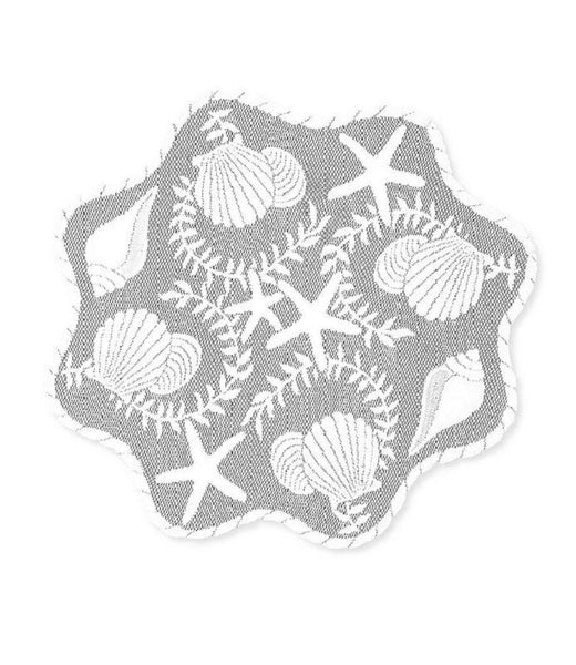 Heritage Lace White TIDEPOOL Round Doily 20""