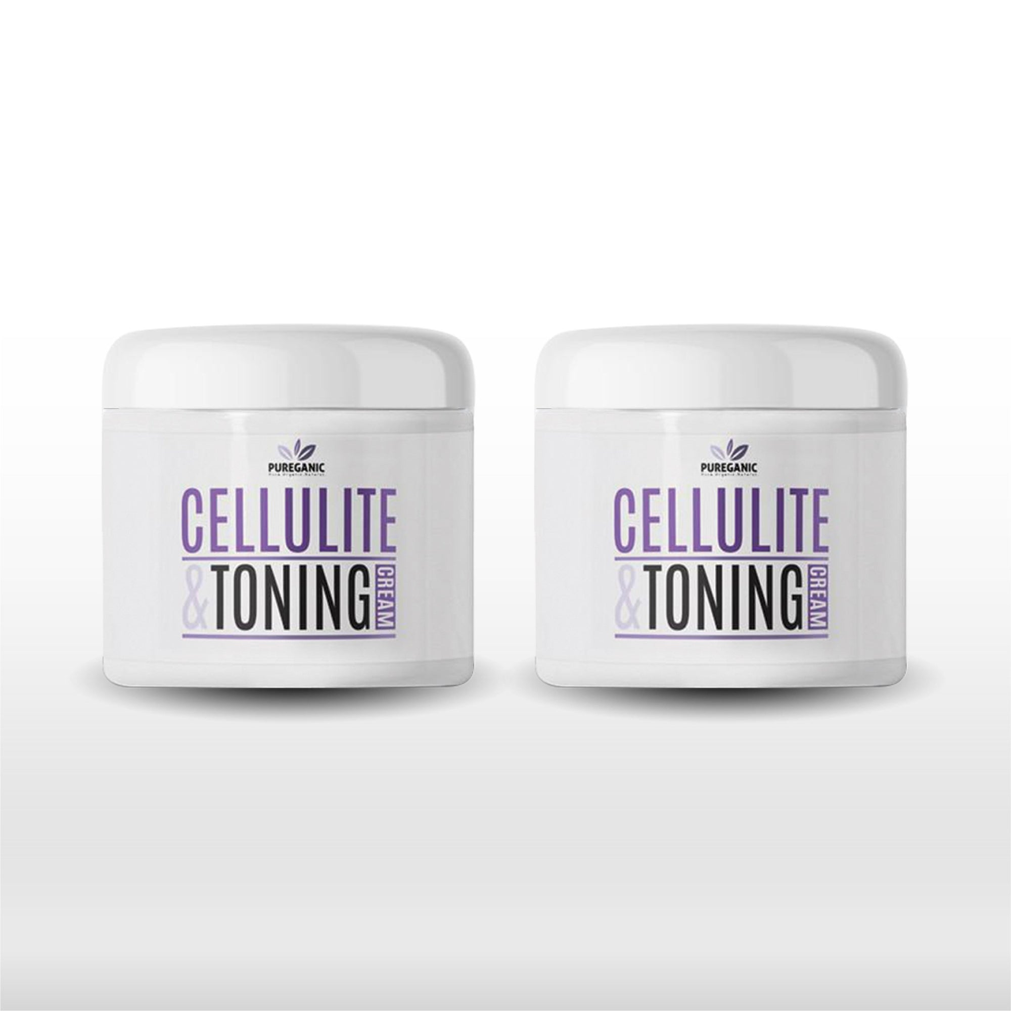 Pureganic Cellulite & Toning Cream - 2 Pack