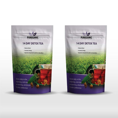 Pureganic 14 Day Detox Tea Packages - 2 Pack