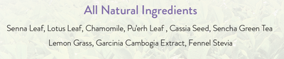 Pureganic 14 Day Detox Tea Ingredients