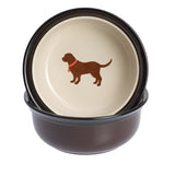 Chocolate Lab Lover dog bowls