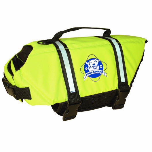 Paws Aboard Life Jacket - Neon Green X-Small