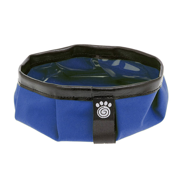 blue pet travel bowl