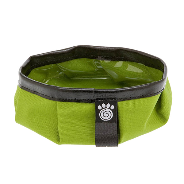 Green pet travel bowl