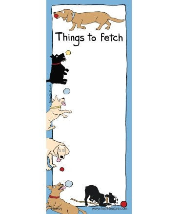 """Things to Fetch"" Magnetic list"