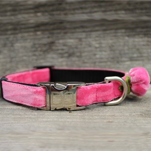 Diva Dog Pink Rosebud Collar