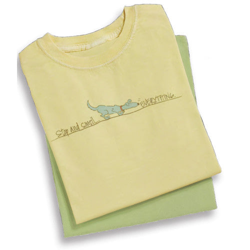 Stop and Smell EverythingLadies Tee in Butter
