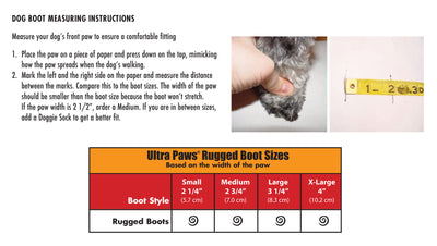 Ultra Paws Size Chart