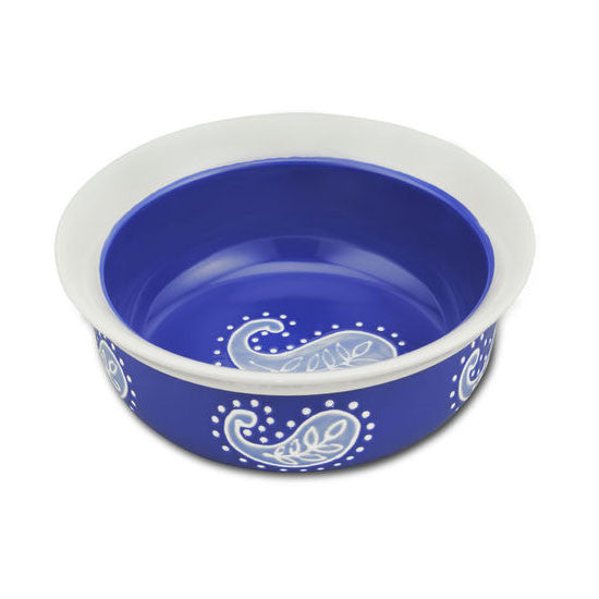 Blue Paisley Bowl - Medium