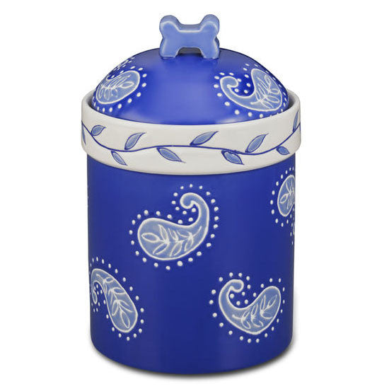 Blue Paisley Treat Jar