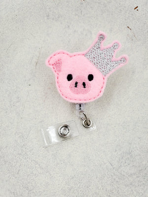 Crown Pig Badge Reel - love tan co.