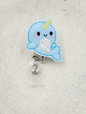 Narwhal Badge Reel - love tan co.