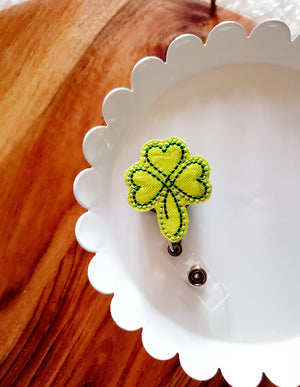 Shamrock 1 Badge Reel - Glitter - love tan co.
