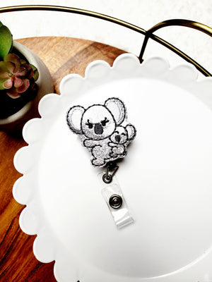 Koalas Badge Reel - Glitter - love tan co.