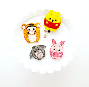 Piglet Fufu Badge Reel - love tan co.