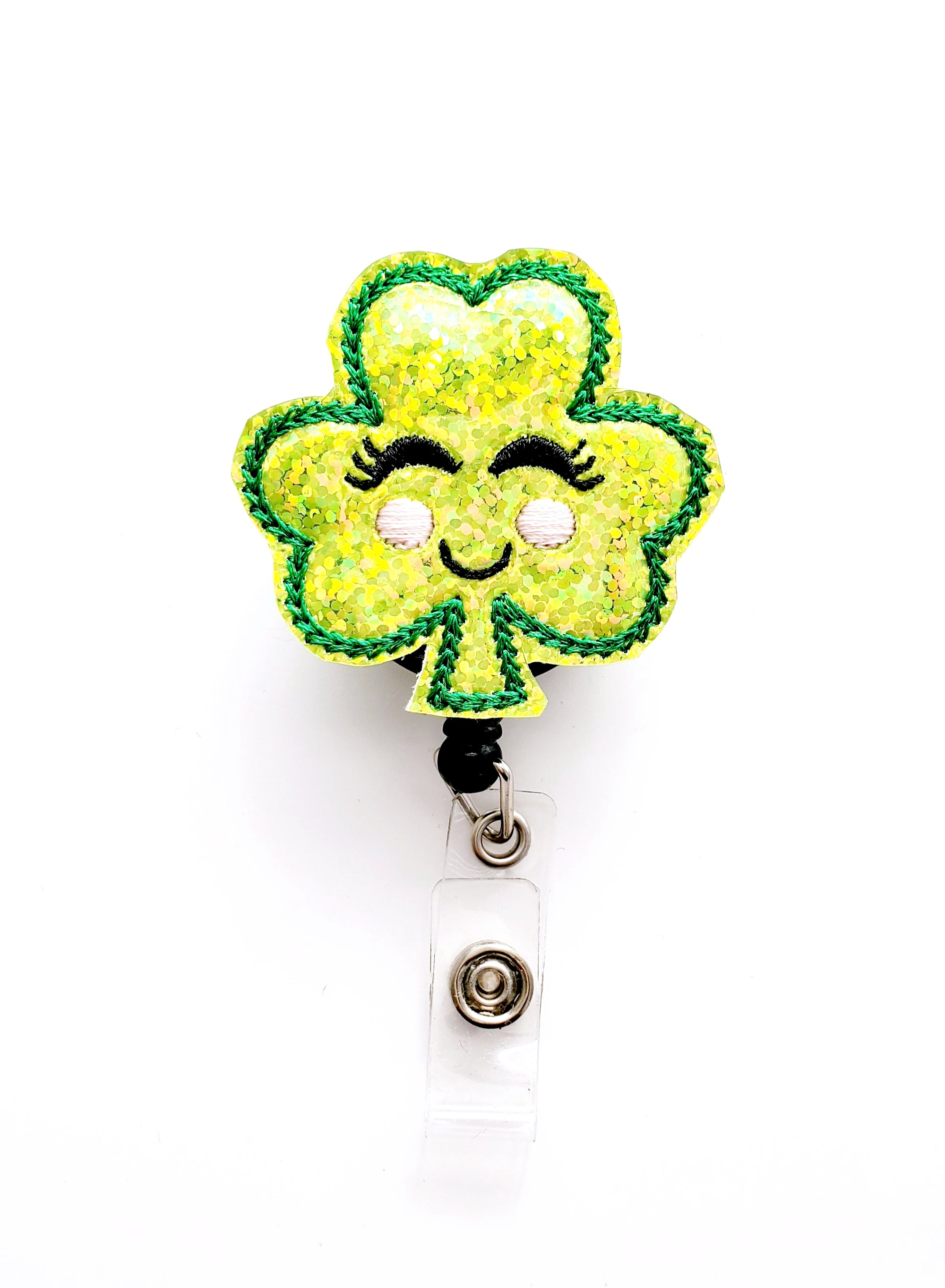 Girly Lt. Green Shamrock Badge Reel - love tan co.