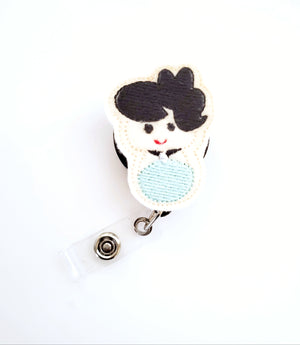 Bettie Rubble Badge Reel -The Flintstones - love tan co.