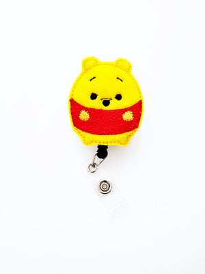 Pooh Fufu Badge Reel - love tan co.