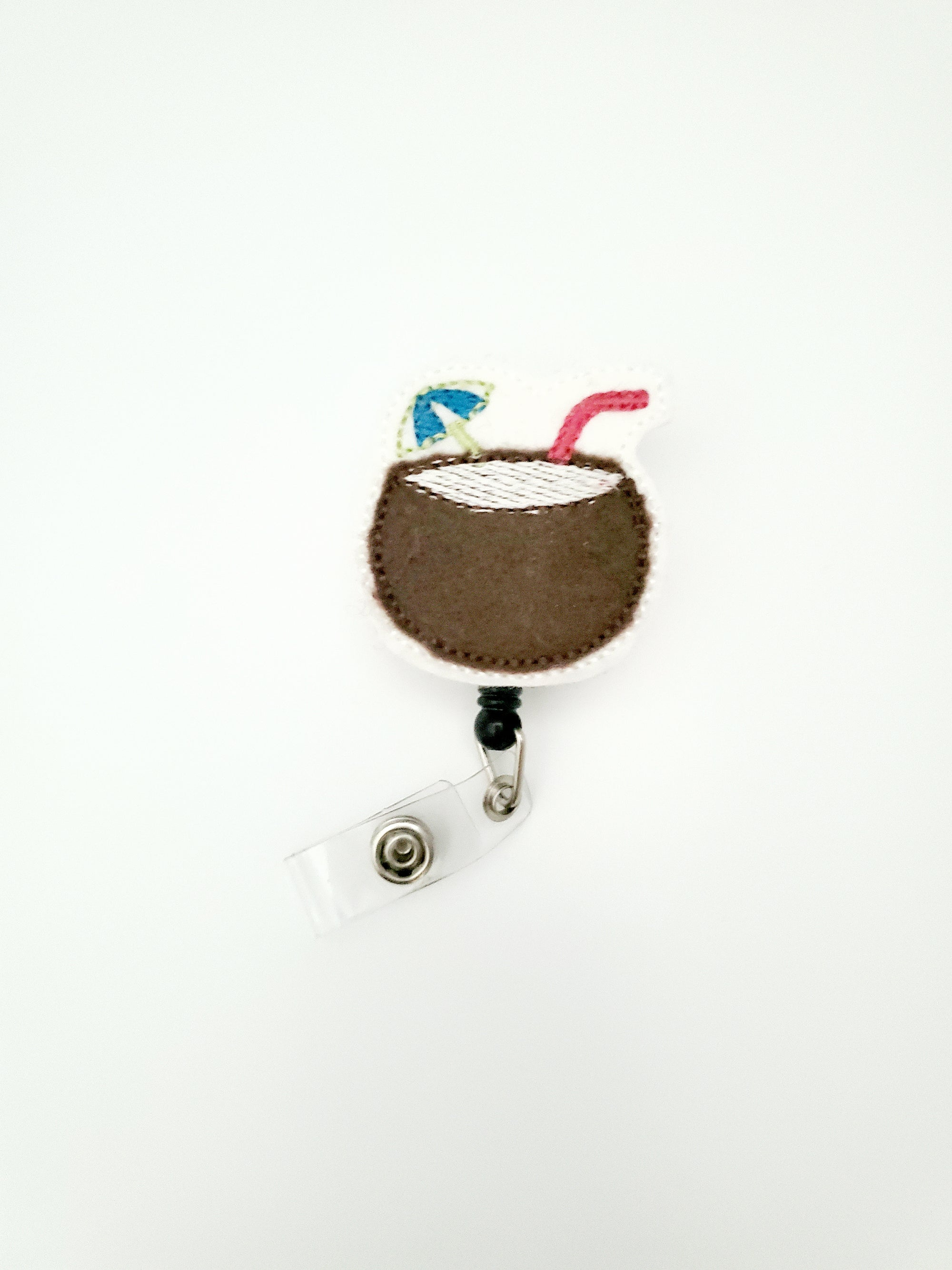 Beach Coconut Badge Reel - love tan co.
