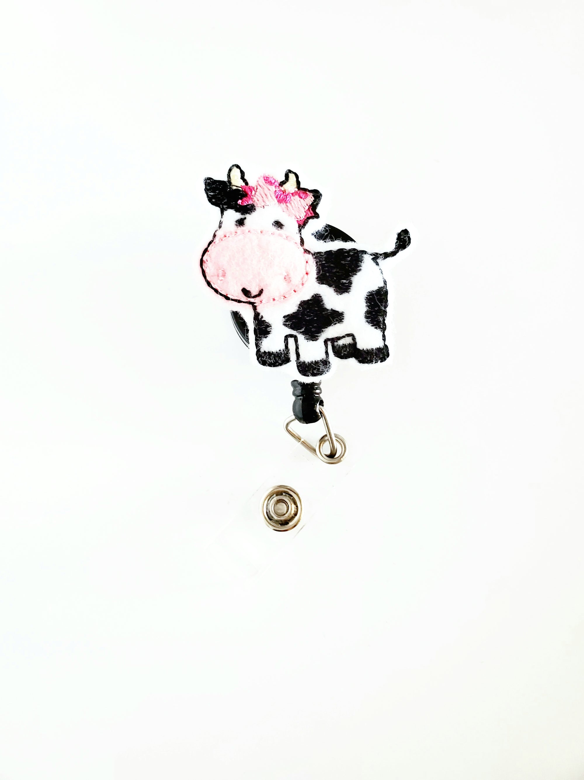 Bow Cow Badge Reel