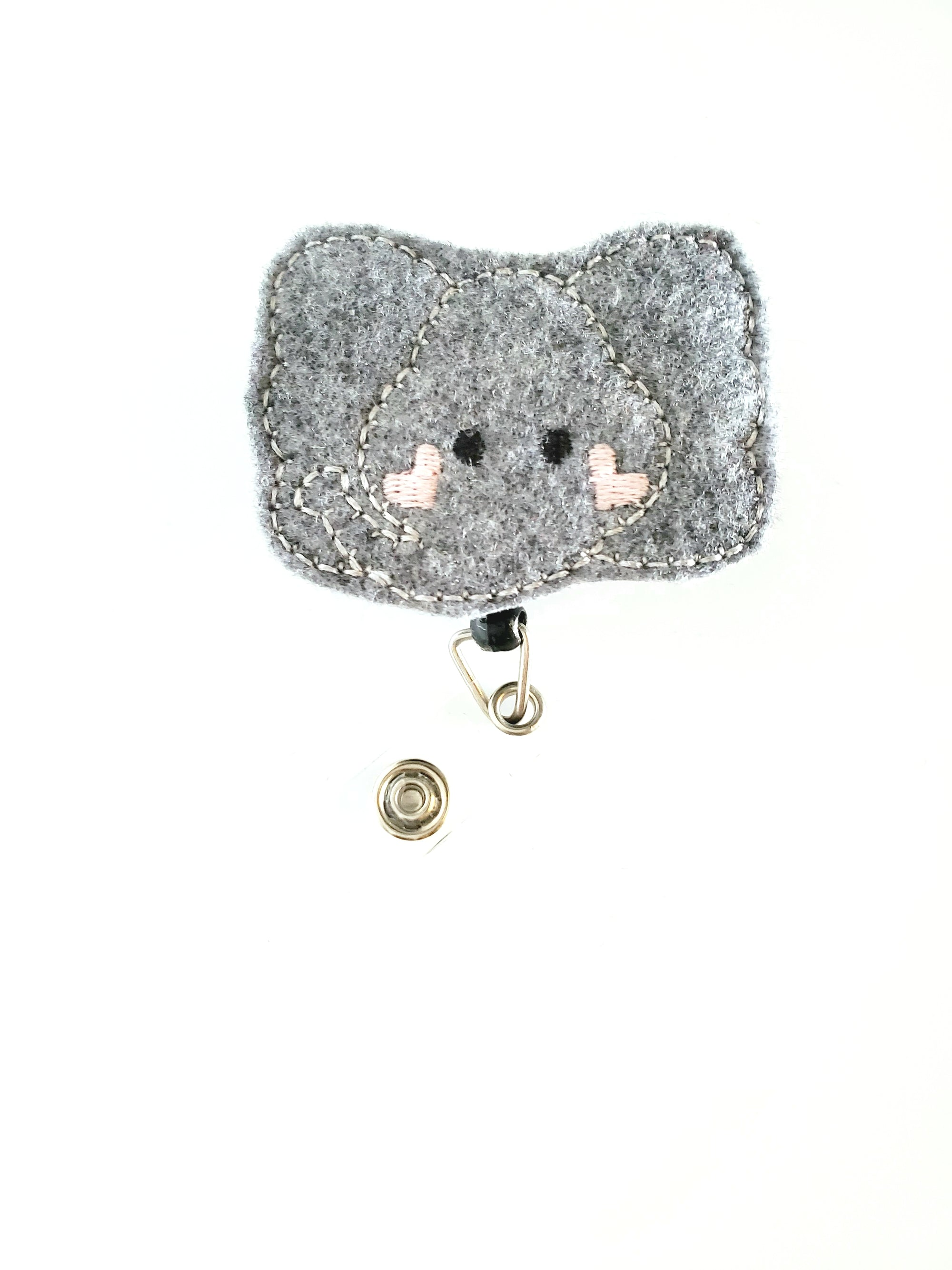 Cheeky Heart Elephant Badge Reel