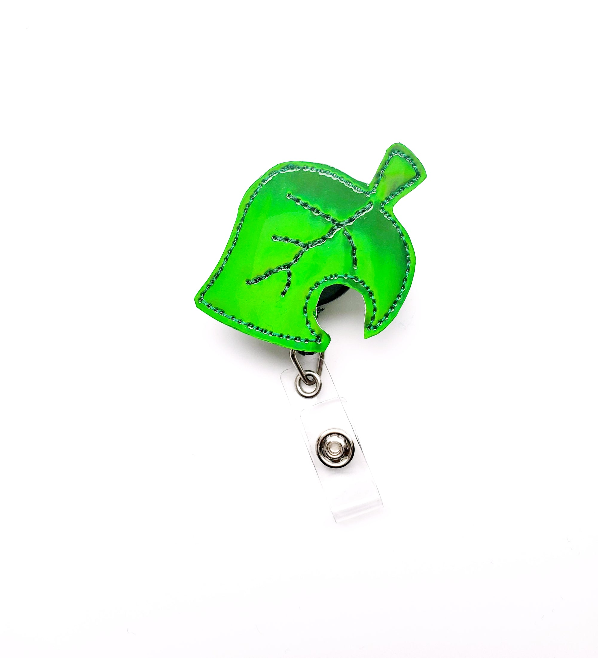Animal Crossing Holo Leaf Badge Reel - Exclusive