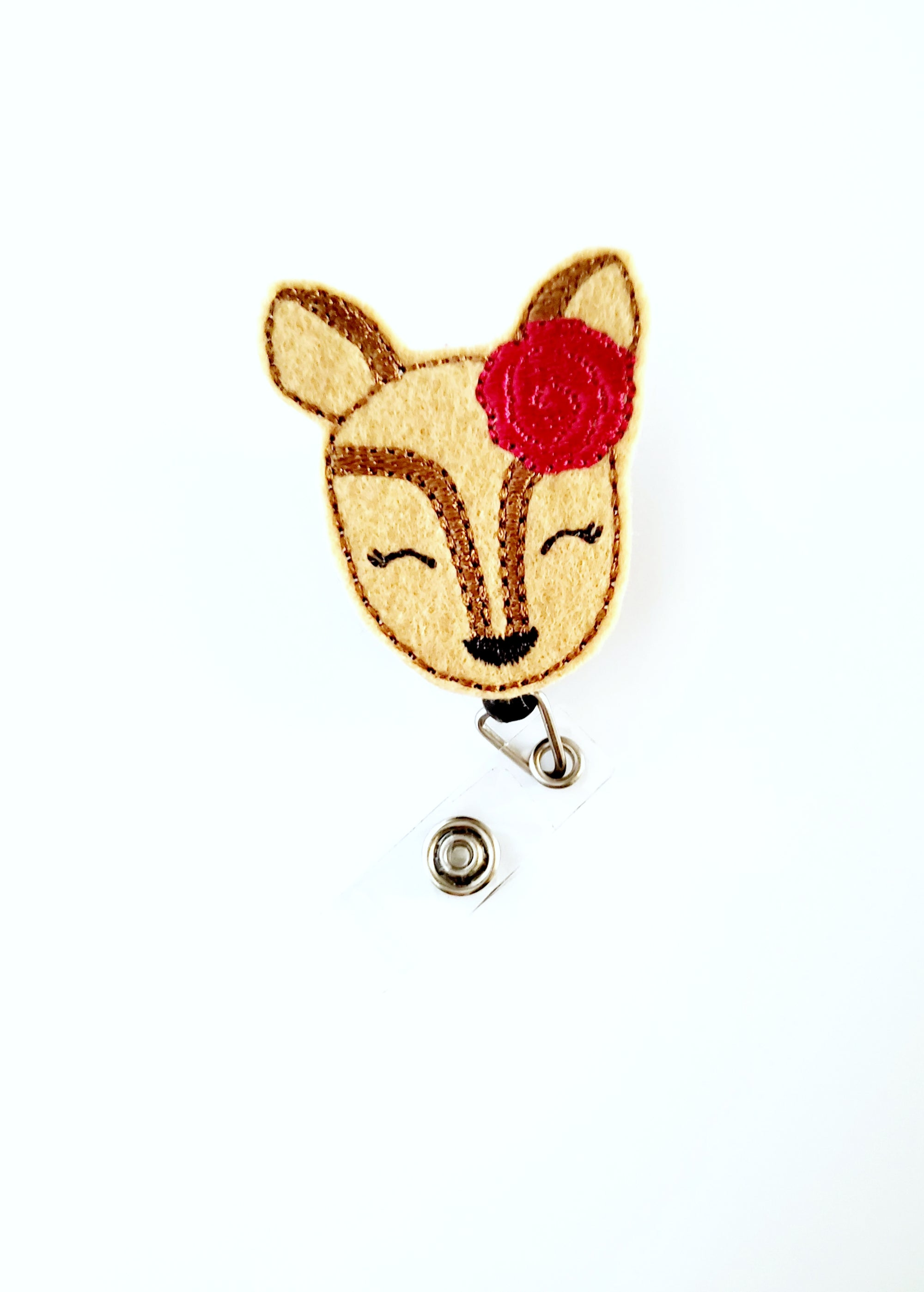 Girly Deer Badge Reel