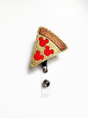 Mouse Pizza Badge Reel