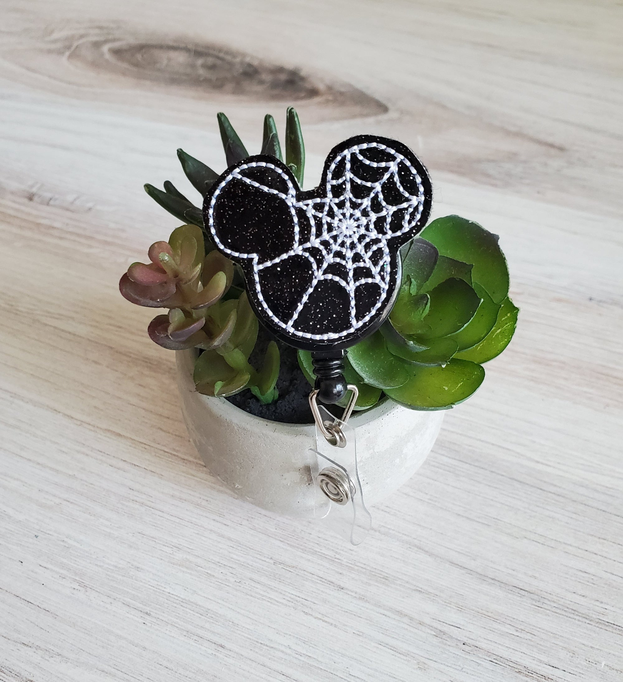 Mouse Spider Badge Reel