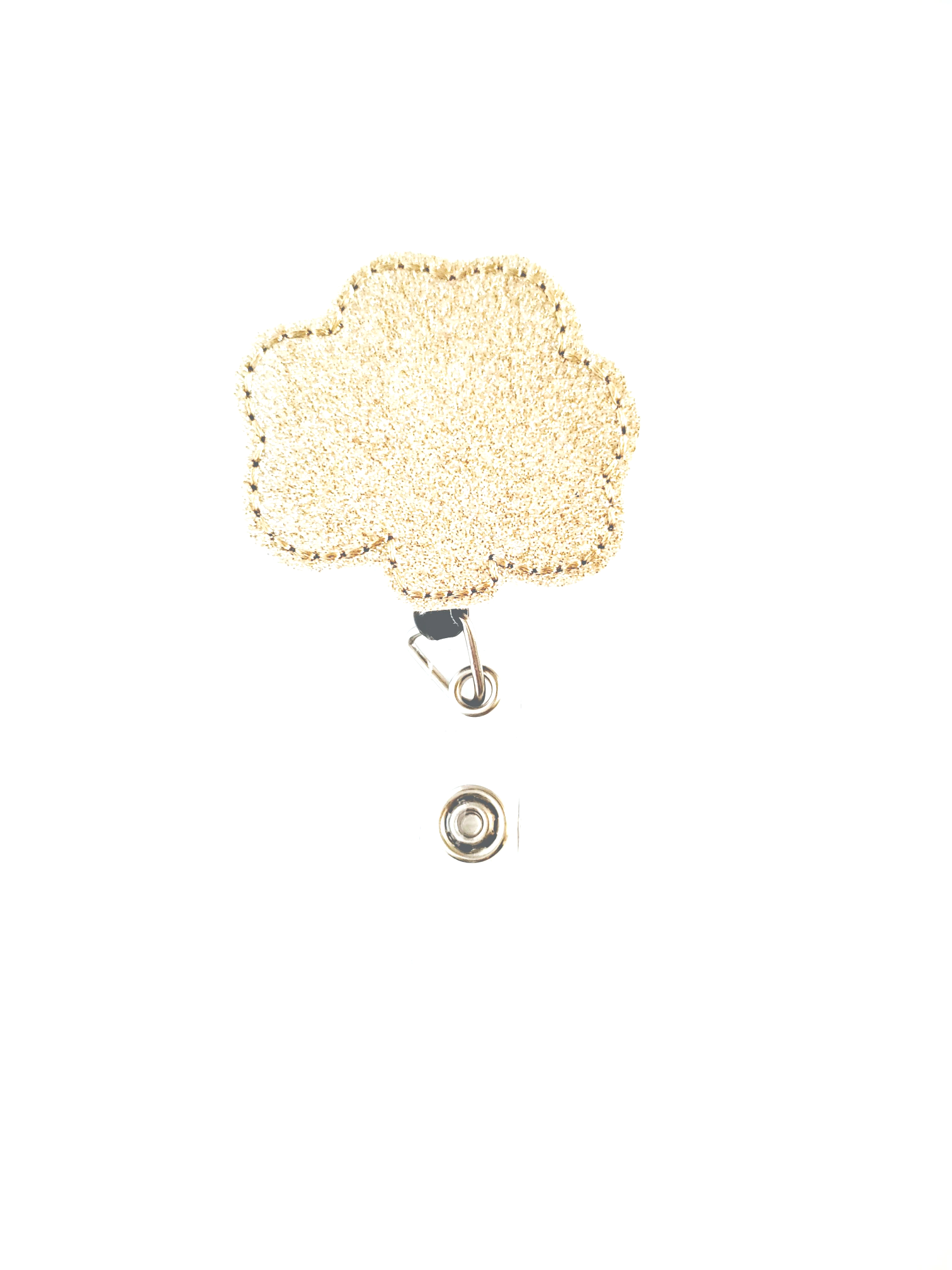 Shamrock Gold Badge Reel -Glitter