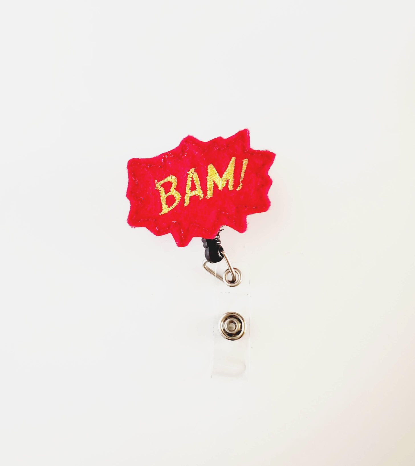 Bam! Red Outline  Badge Reel