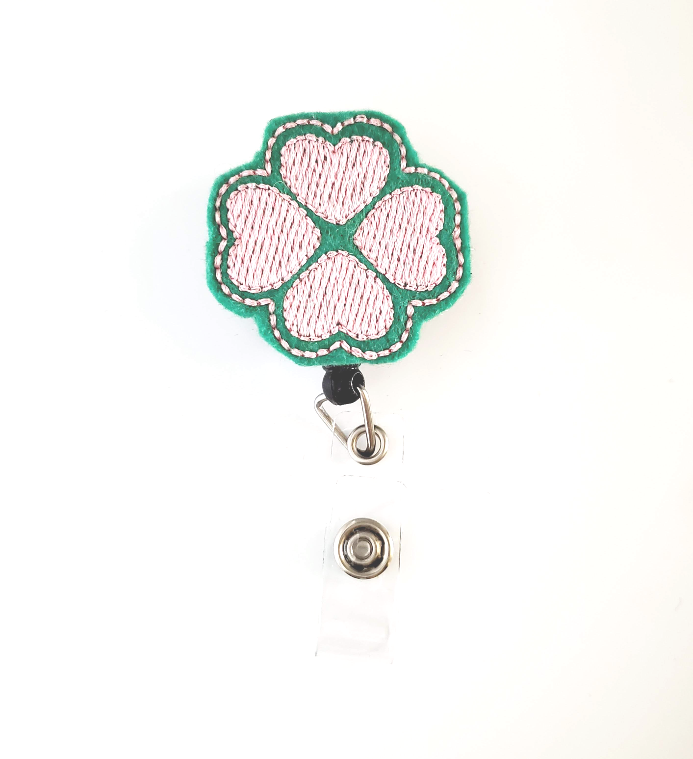 Shamrock Pink and Green Badge Reel