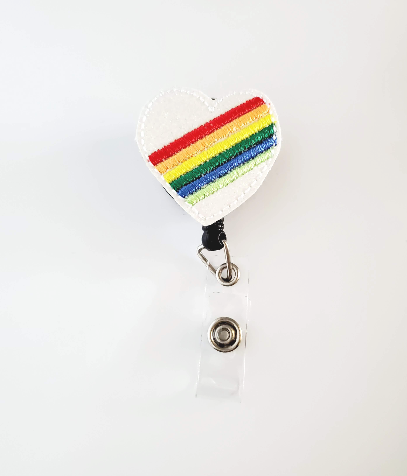 Rainbow Heart Badge Reel