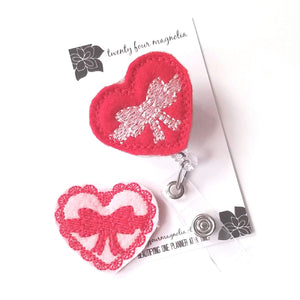 Valentines Day Badge Reel - Heart - love tan co.
