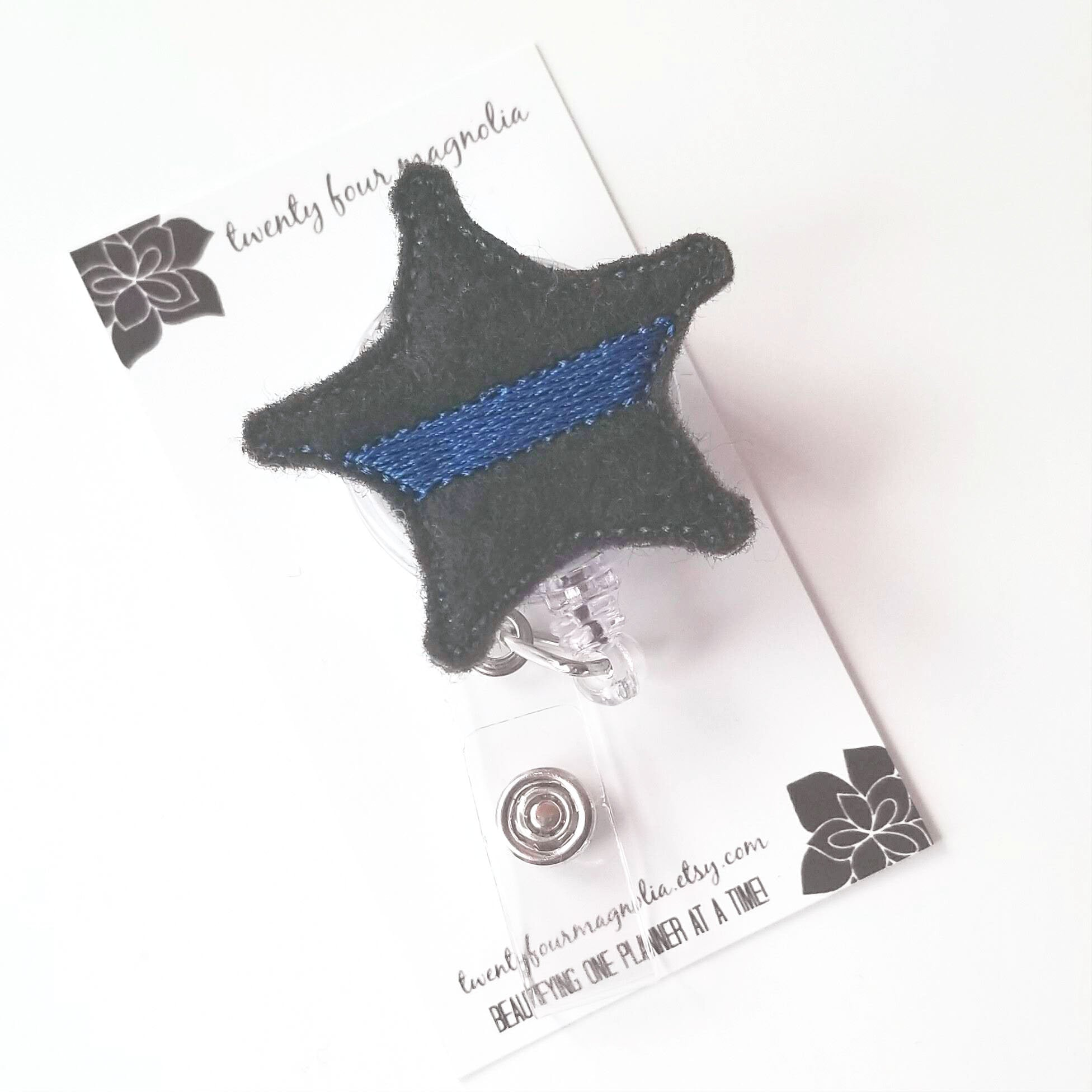 Thin Blue Line Sheriff Badge Reel - love tan co.