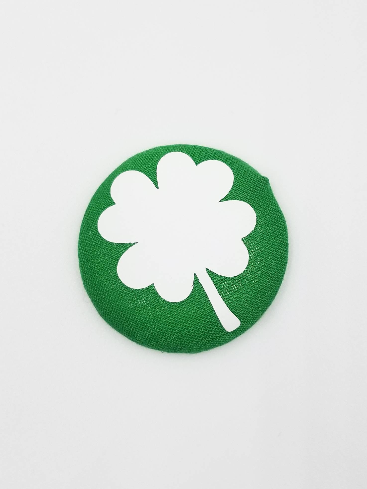 Shamrock Button Badge Reel - love tan co.
