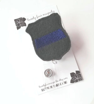 Police Wife Badge Reel - love tan co.