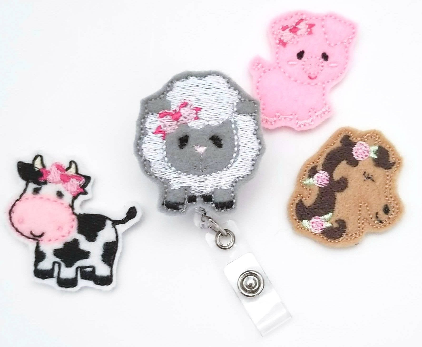 Farm Animals Badge Reel - love tan co.