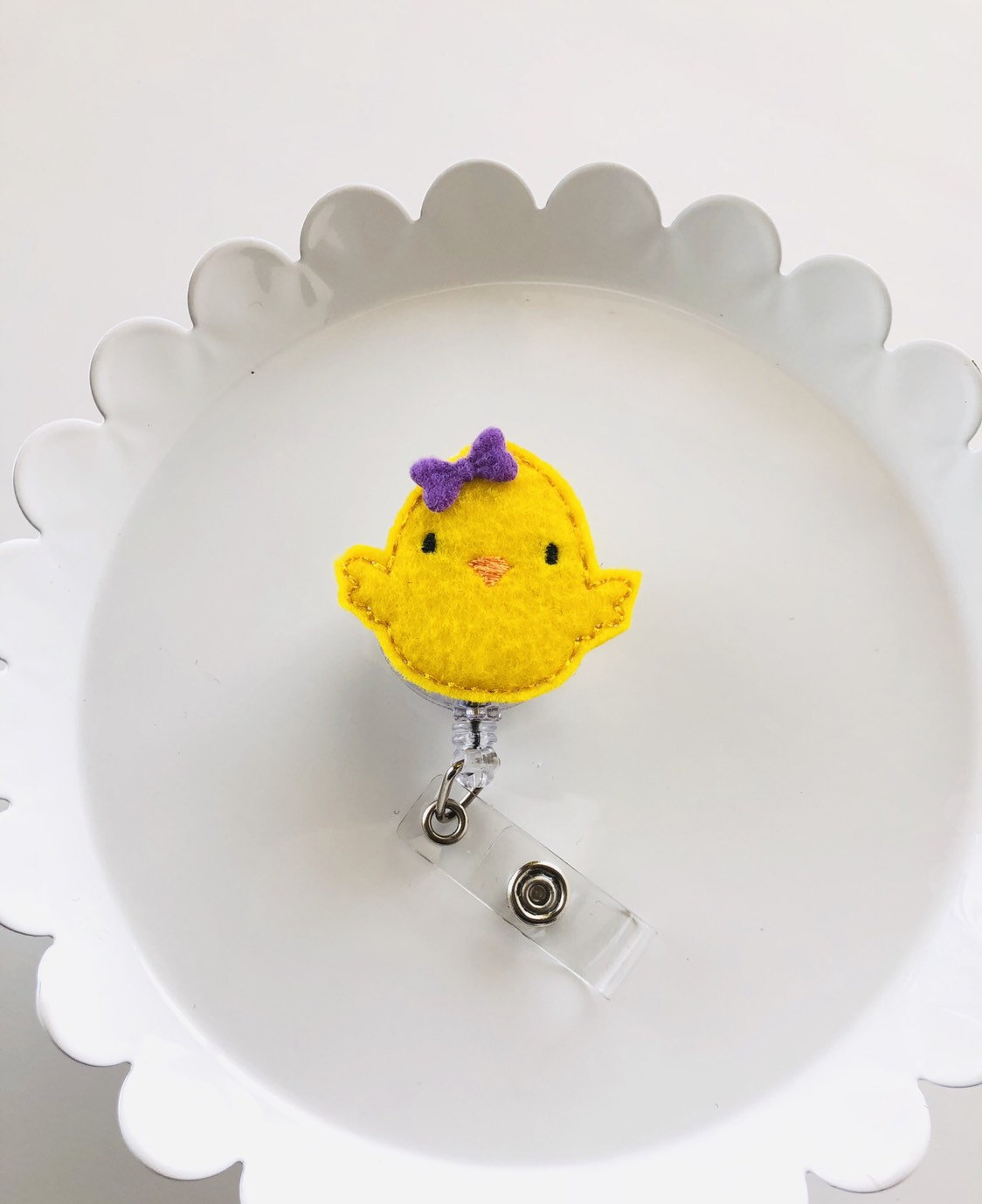 Easter Baby Chick Badge Reel - love tan co.