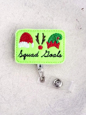 Squad Goals Badge Reel - Christmas - love tan co.