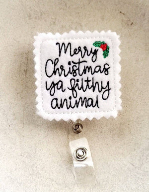 Merry Christmas Ya Filthy Animal Badge Reel - Home Alone - love tan co.