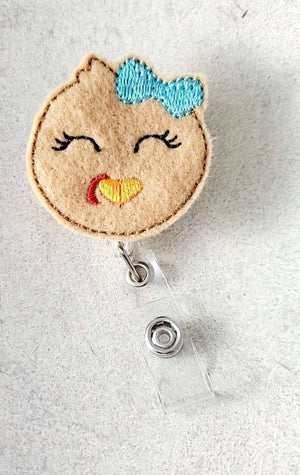 Turkey Girl Face Badge Reel - love tan co.