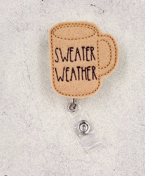 Sweater Weather Badge Reel - Fall - love tan co.