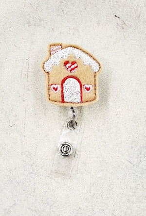 Gingerbread House Badge Reel - love tan co.