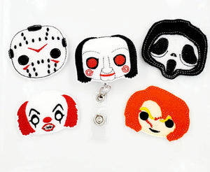 Scary Movie Villians Badge Reel  *Choose One - love tan co.