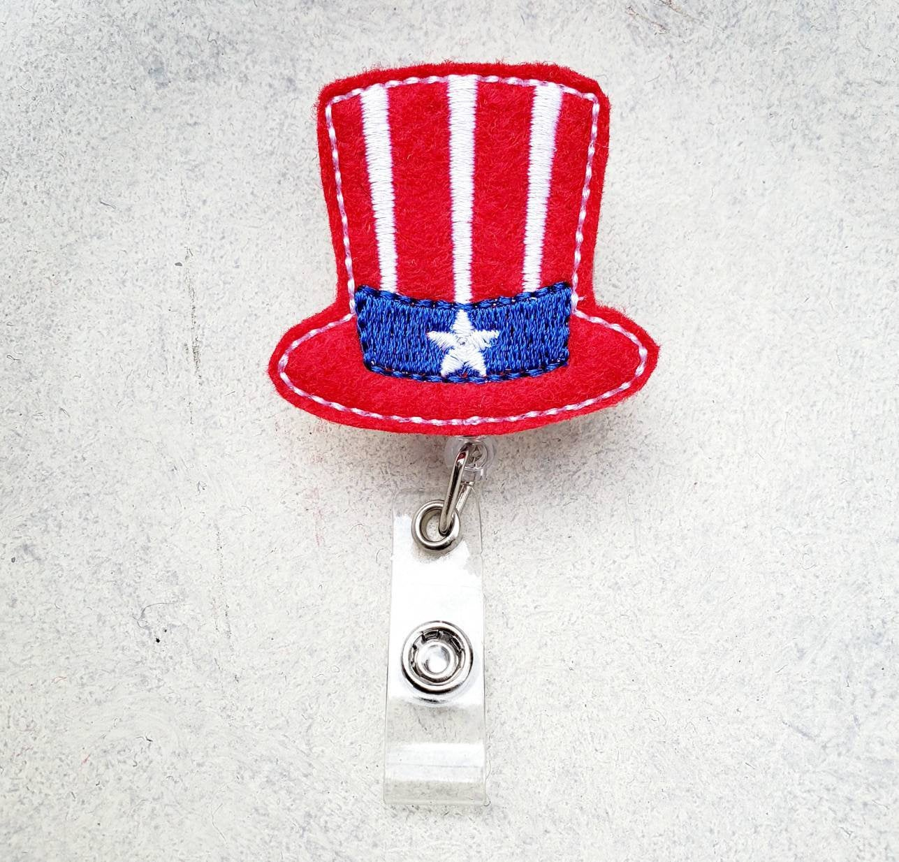 Fourth of July Hat Badge Reel - love tan co.